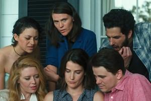"Alia Shawkat, Clea Duvall, Cobie Smulders, Ben Schwartz, Jason Ritter, Natasha Lyonne in ""The Intervention"""