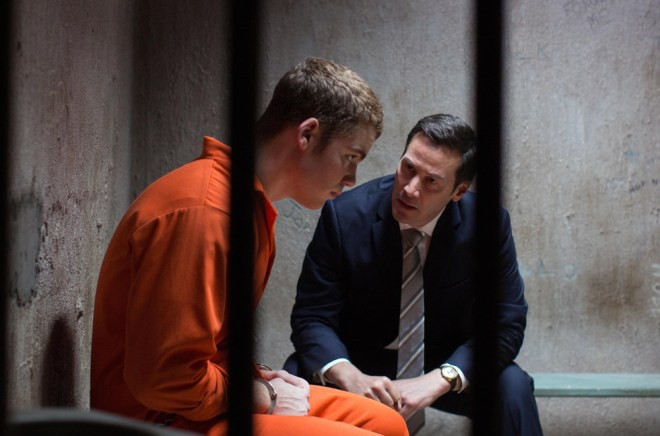 "Gabriel Basso and Keanu Reeves in ""The Whole Truth"""