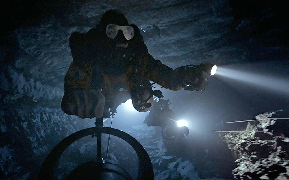 """A scene from """"Diving Into the Unknown"""""""