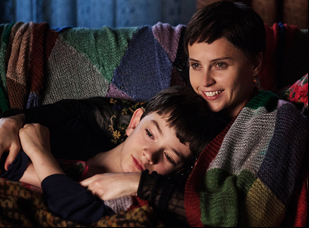 "Felicity Jones and Lewis MacDougall in ""A Monster Calls"""