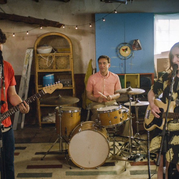 "Zoe Lister Jones, Adam Pally and Fred Armisen in ""Band Aid"""