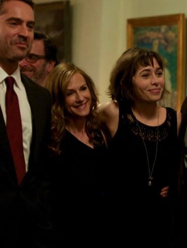 "Omar metwally, Holly Hunter, Tony Shalhoub and Cristin Miliotti in ""Breakable You"""