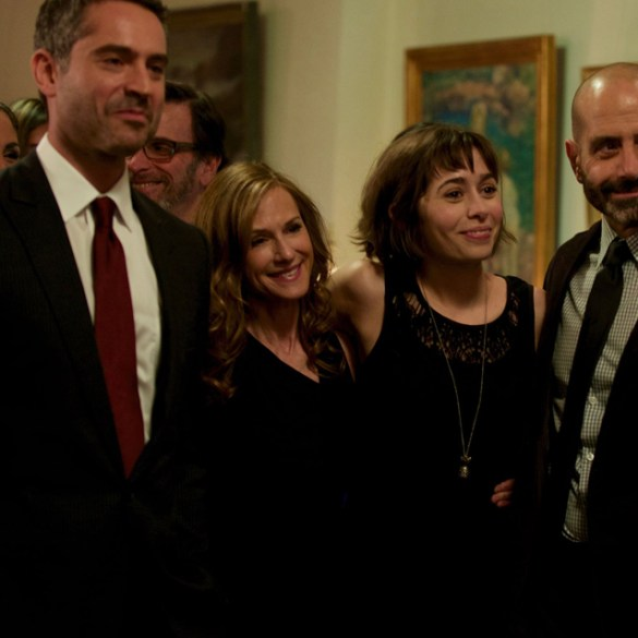 "Omar metwally, Holly Hunter, Tony Shalhoub and Cristin Miliotti in ""Breakable You"""