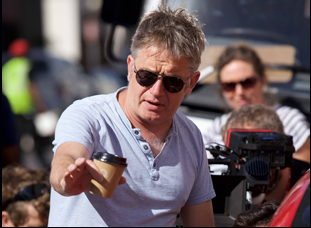 "Director Christopher Smith on the set of ""Detour"""