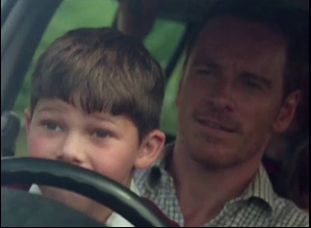 "Michael Fassbender and Killian Scott in ""Trespass Against Us"""