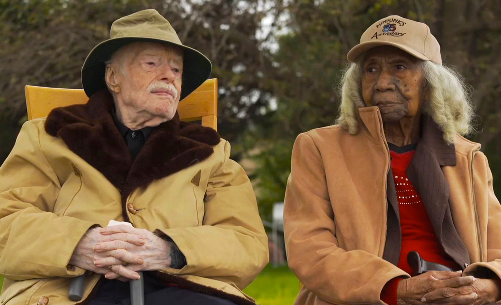 "Edith Hill and Eddie Harrison in ""Edith and Eddie"""