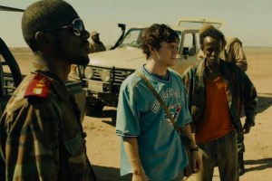 "Evan Peters and Barkhad Abdi in ""Dabka"""