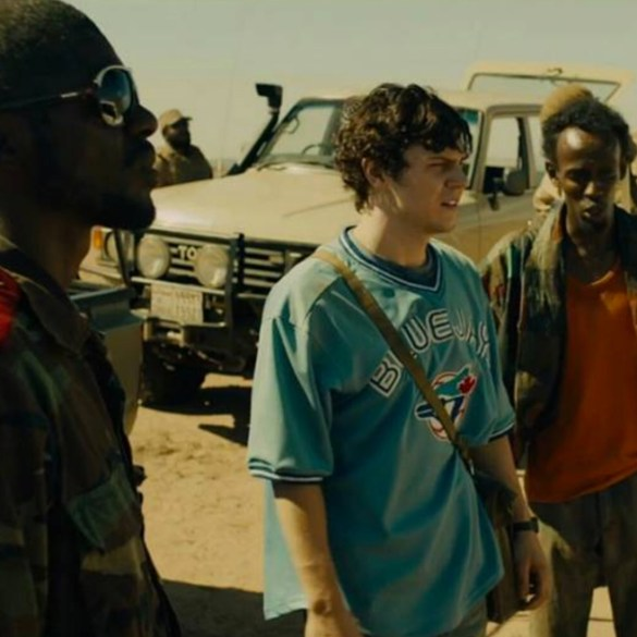 "Evan Peters and Barkhad Abdi in ""Dabka"""
