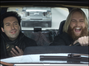 "Alex Karpovsky and Wyatt Russell in ""Folk Hero & Funny Guy"""