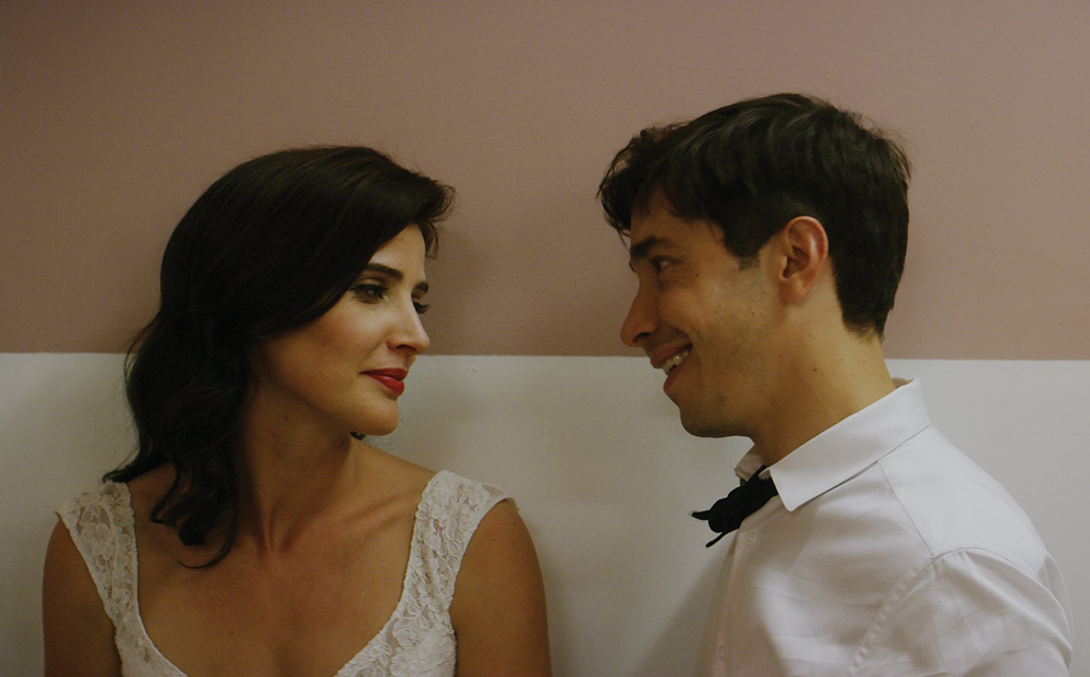 """Cobie Smulders and Justin Long in """"Literally Right Before Aaron"""""""