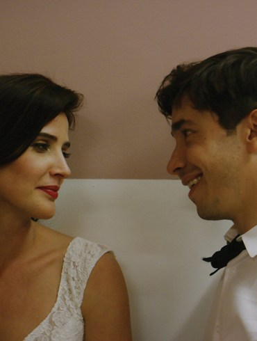 "Cobie Smulders and Justin Long in ""Literally Right Before Aaron"""