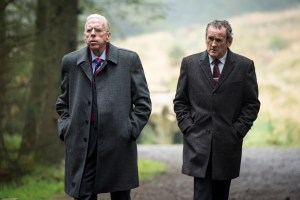 "Colm Meaney and Timothy Spall in ""The Journey"""