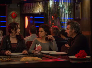 "Abby Quinn, Jenny Slate and John Turturro in ""Landline"""