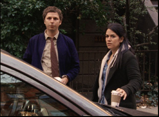 "Michael Cera and Abbi Jacobson in ""Person to Person"""