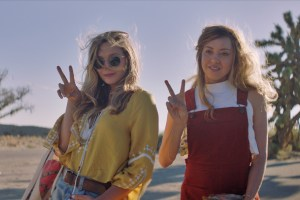"Elizabeth Olsen and Aubrey Plaza in ""Ingrid Goes West"""