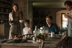 "Mia Goth, George Mackay, Matthew Stagg, Charlie Heaton in ""Marrowbone"""