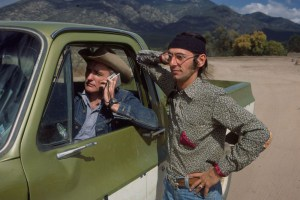 "Satya de la Mantou and Dennis Hopper in ""Along for the Ride"""