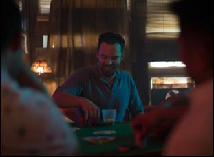 """A scene from Joe Swanberg's """"Win It All"""""""