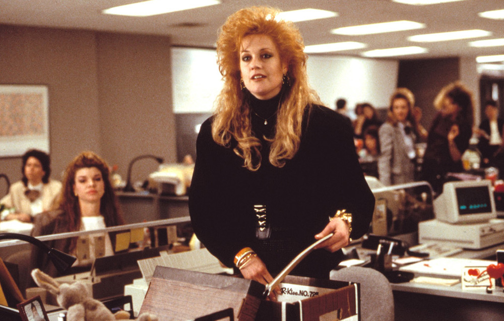 """Melanie Griffith in """"Working Girl"""""""