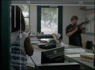 "Bo Mitchell and Tarra Riggs in ""DeKalb Elementary"""
