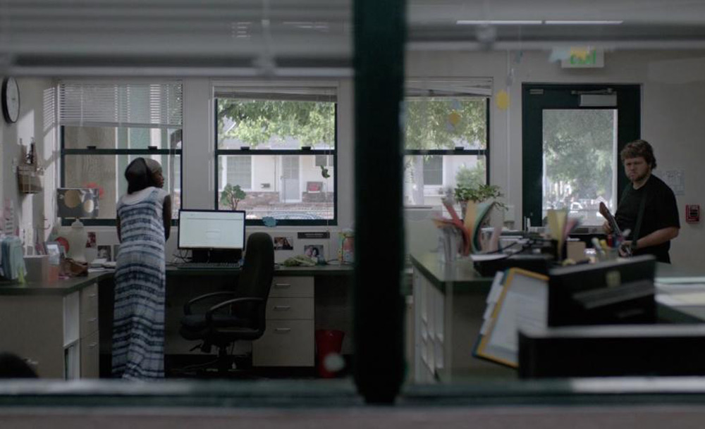 "Tarra Riggs and Bo Mitchell in ""DeKalb Elementary"""