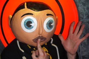 "Chris Sievey as Frank Sidebottom in ""Being Frank: The Chris SIevey Story"""