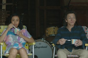 "Charlene deGuzman and John Hawkes in ""Unlovable"""