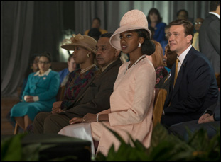 "Condola Rashad and Jason Segel in ""Come Sunday"""