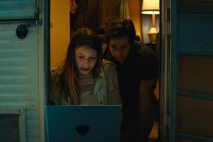 "Melissa Benoist and Michael Angarano in ""Sun Dogs"""