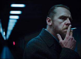"""Simon Pegg in """"Terminal"""""""