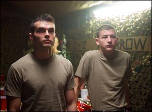 "Alden Ehrenreich and Tye Sheridan in ""The Yellow Birds"""
