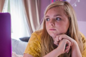 "Elsie Fisher in ""Eighth Grade"""