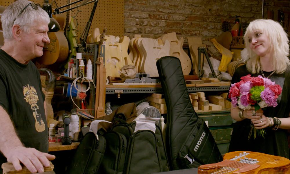 "Cindy Hulej and Rick Kelly in ""Carmine St. Guitars"""