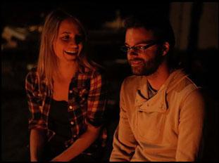 """Rebecca Weaver and Justin Pahnturat in """"June Falling Down"""""""
