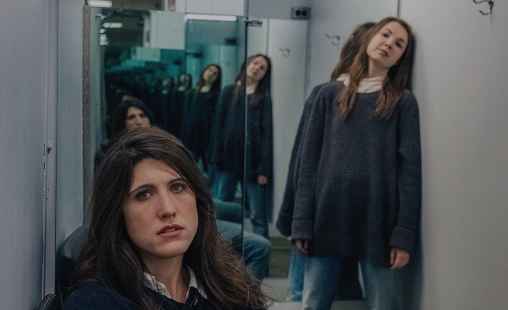 """Norah Sadava and Amy Nostbakken in """"Mouthpiece"""""""