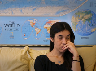 "Nadia Murad in ""On Her Shoulders"""