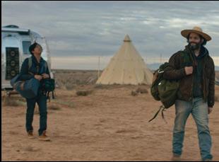 """Jason Mantzoukas and Tony Revolori in """"The Long Dumb Road"""""""