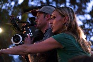 "Liz Cardenas filming ""Imago"""