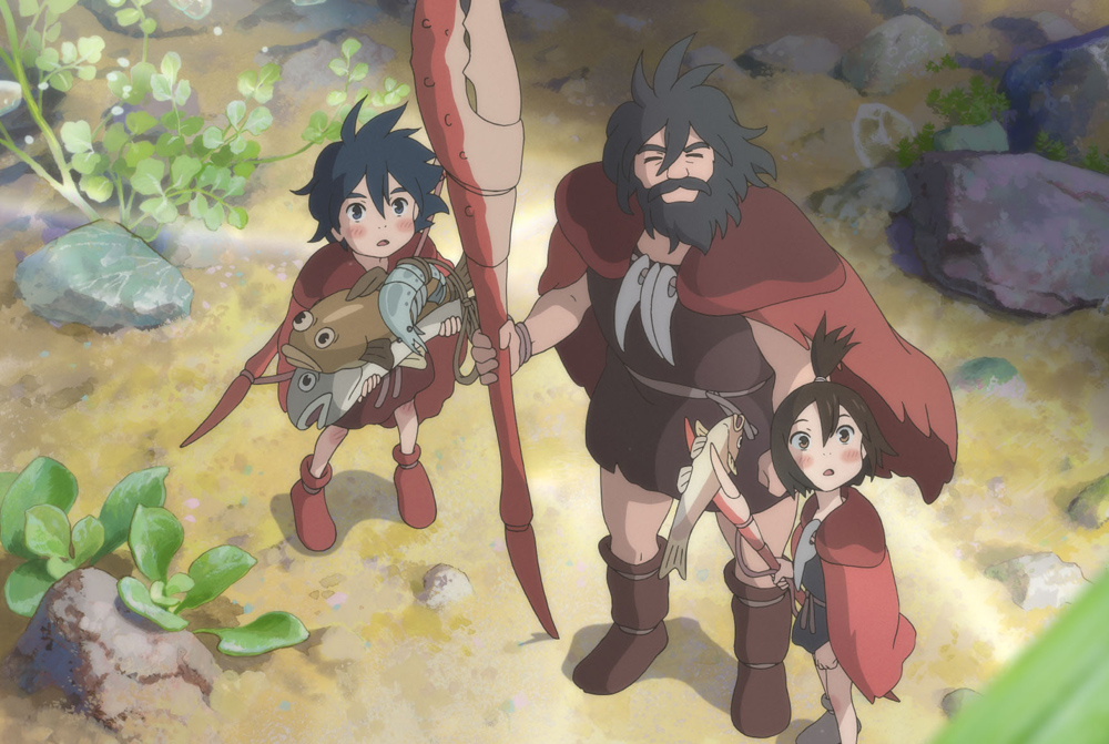 """A scene from Studio Ponoc's """"Modest Heroes"""" from Kanini to Kanino"""