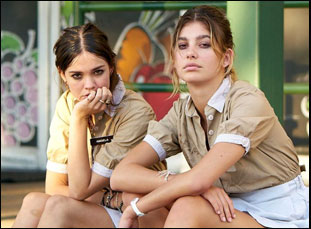 "Camilla Morrone and Maia Mitchell in ""Never Goin' Back"""