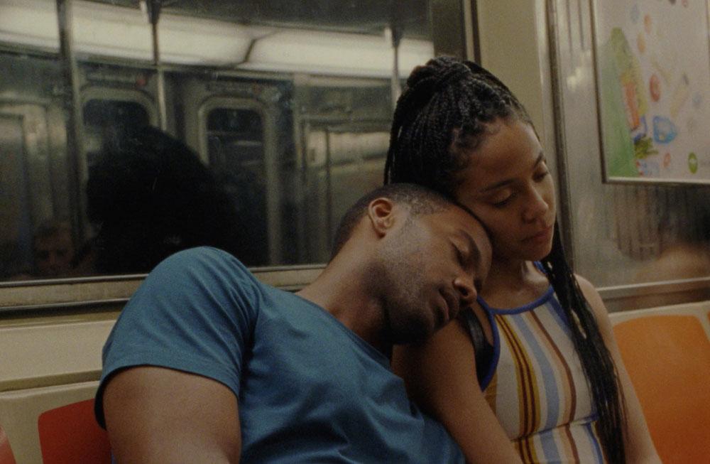 "Zora Howard and Joshua Boone in ""Premature"""