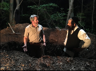 "Matthew Broderick and Geza Rohrig in ""To Dust"""