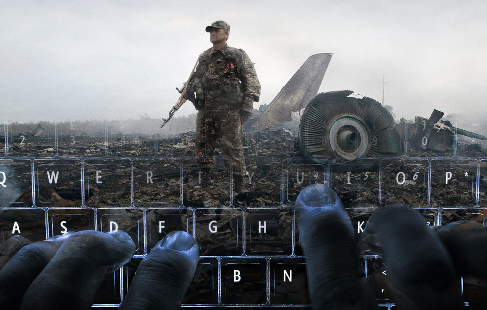 """A scene from Hans Pool's """"Bellingcat - Truth in a Post-Truth World"""""""