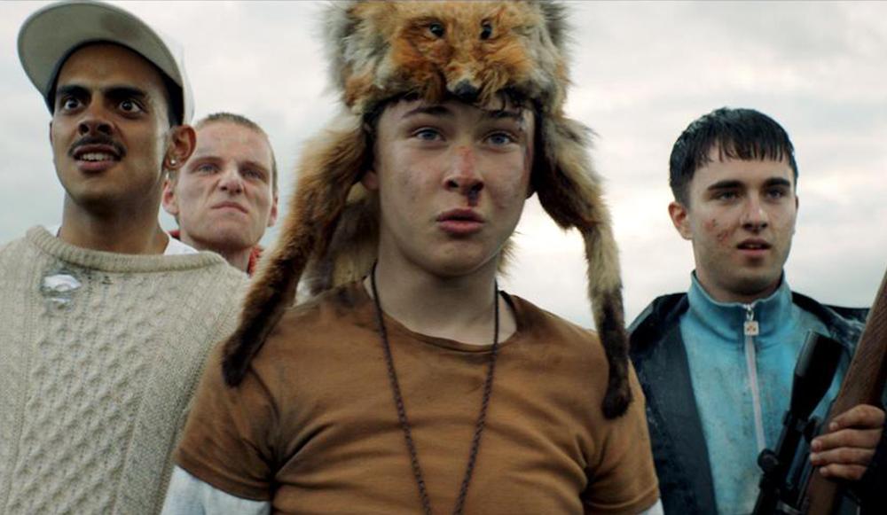 "Samuel Bottomley, Viraj Juneja, Rian Gordon and Lewis Gribben in ""Boyz in the Wood"""