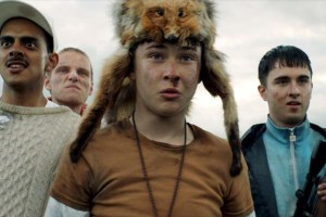 "Samuel Bottomley, Viraj Juneja, Rian Gordon and Lewis Gribben in ""Boyz in the Wood"""