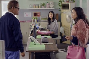 "Richard Ng, Lynn Chen and Anna Akana in ""Go Back to China"""