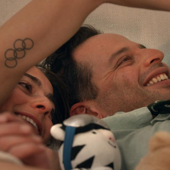 "Nick Kroll and Alexi Pappas in ""Olympic Dreams"""