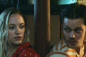 "Maika Monroe and Bill Skarsgard in ""Villains"""
