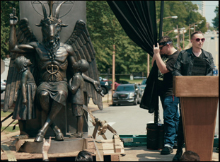 """Lucien Greaves in a scene from """"Hail Satan?"""""""