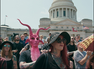 "A scene from Penny Lane's ""Hail Satan?"""